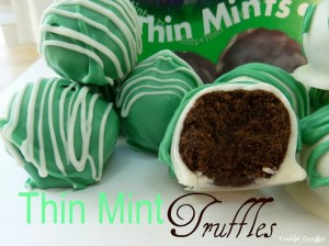 thin mint truffles 300x224 Thin Mint Truffles  Sweet Winter Treat