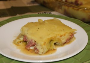 Corned Beef and Cabbage Casserole Recipe 640x452 300x211 Alea's Corned Beef and Cabbage Casserole with Mashed Potato Crust