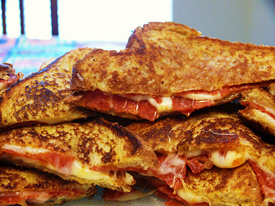 Pizza Grilled Cheese Pizza Grilled Cheese {Forkful of Comfort}