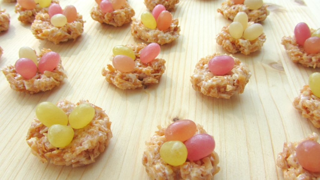 Surf Sweets Jelly Bean Bake Off 1 1024x575 Toasty Coconut Nests, Allergy Free!