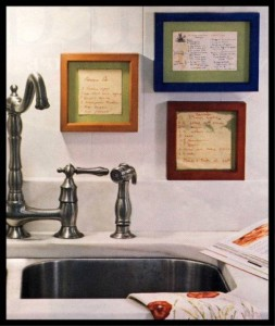 kitchenrecipes 253x300 Framed Recipes  Kitchen Inspiration