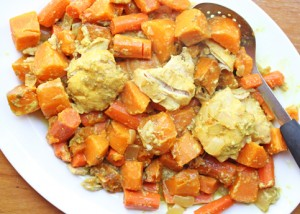 slow cooker sweet potato cu 300x214 Pantry Challenge Week & Meal Plan