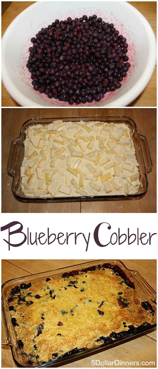 Easy Blueberry Cobbler | 5DollarDinners.com