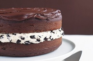 chocolate cake 300x199 Chocolate Covered Oreo Cookie Cake  Sweet Spring Treat