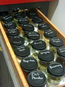 spice jar organization