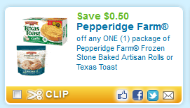 pepperidge farm bread printable coupon Pepperidge Farm Frozen Artisan Rolls or Texas Toast Printable Coupon