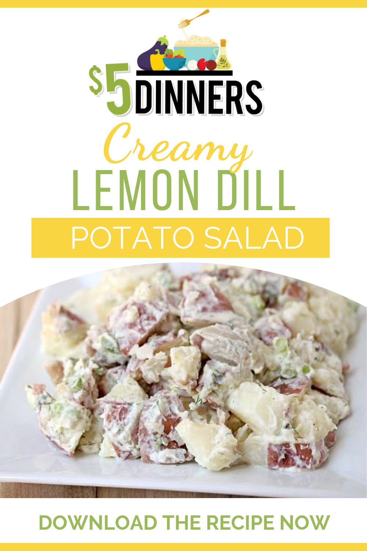 creamy lemon dill potato salad recipe