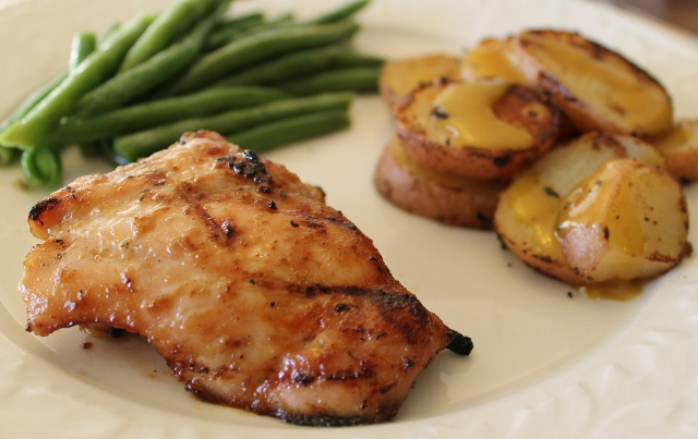 Alea's Grilled Honey Mustard Chicken and Red Potatoes