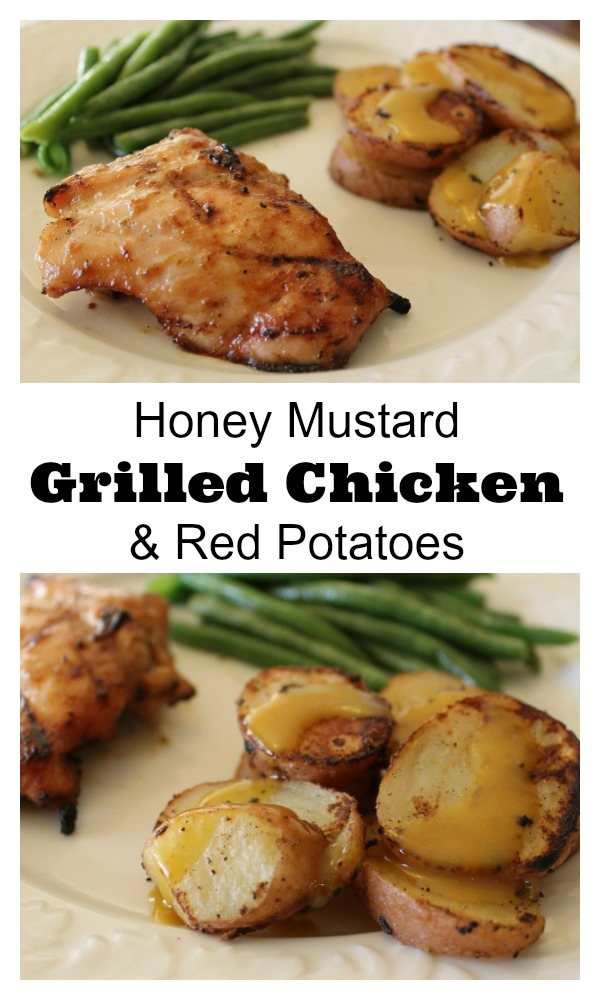 Grilled Honey Mustard Chicken and Red Potatoes | 5DollarDinners.com