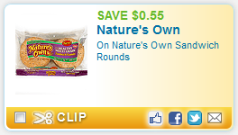 natures own printable coupon Natures Own Sandwich Rounds + More Printable Coupons