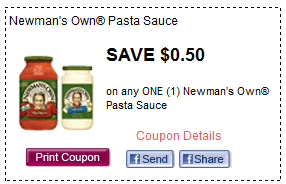 newmans own pasta sauce printable coupon Newmans Own Pasta Sauce + More Printable Coupons