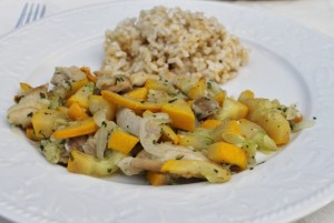 Chicken with Summer Squash 640x430 300x201 Aleas Chicken and Summer Squash Skillet