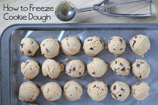 how to freeze cookie dough save