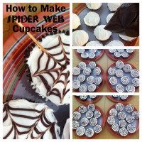 How to Make Spiderweb Cupcake