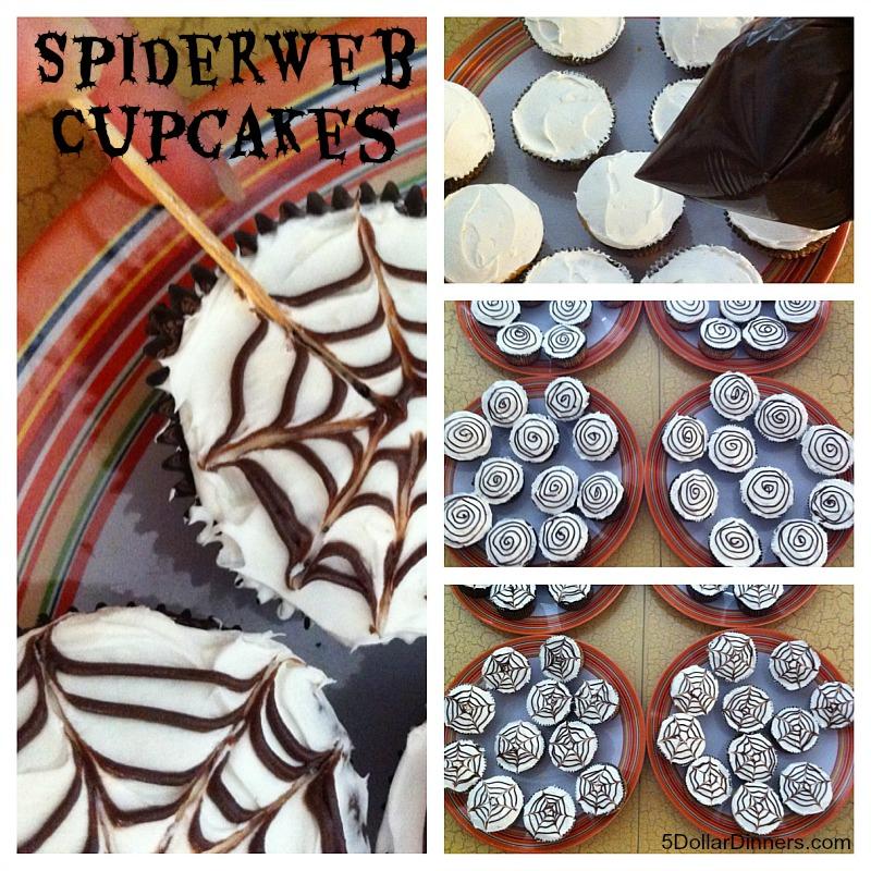 Spiderweb Cupcakes from 5DollarDinners.com