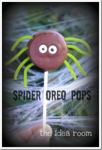 halloweenoreos 203x300 Oreo Spider Pops  Kids in the Kitchen
