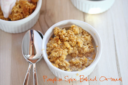 Pumpkin Spiced Baked Oatmeal
