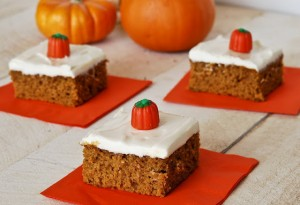 pumpkinbars 300x205 Pumpkin Bars  Sweet Fall Treat