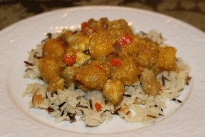 Curried Chicken and Butternut Squash Recipe 640x430 300x201 Aleas Curried Chicken with Acorn Squash