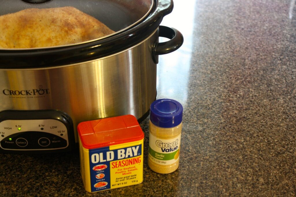 Slow Cooker Old Bay Seasoning 1024x682 Tricias Slow Cooker Old Bay Rotisserie Chicken