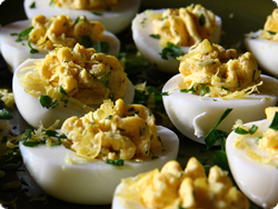 dill and lemon deviled eggs {CLOSED} Safest Choice Eggs & The Darling Dozen {plus $50 Gift Card & Gift Pack Giveaway}