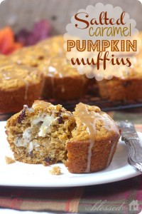 pumpkinmuffins 200x300 Salted Caramel Pumpkin Muffins  Sweet Fall Treat