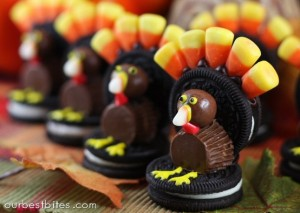 turkey 300x213 Oreo Turkeys and Cookie Pilgrims  Kids in the Kitchen