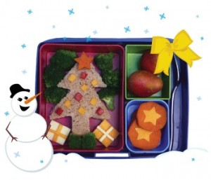 bento1 300x257 Christmas Tree Lunch  Lunchbox Inspiration