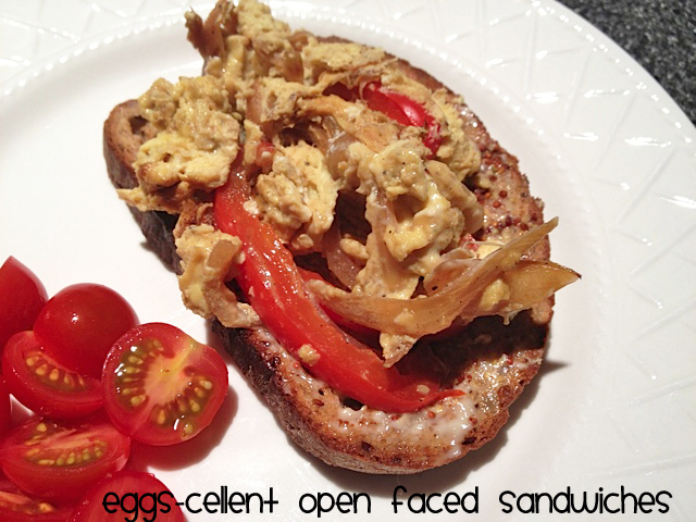 open faced egg sandwich Magdas Eggs cellent Open Faced Sandwiches