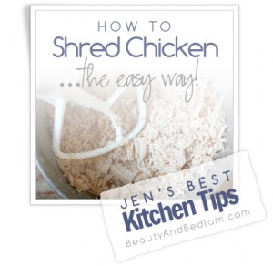 shred chicken 300x292 Top Kitchen Tips  Kitchen Inspiration