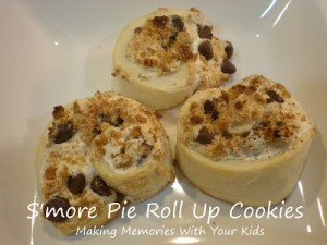 smorepie 300x225 Smore Pie Roll Up Cookies  Kids in the Kitchen