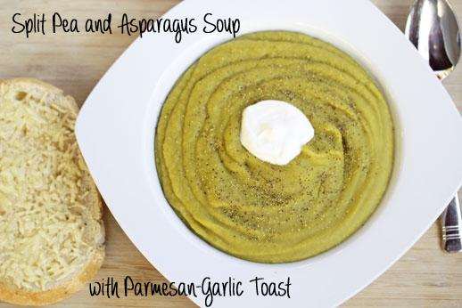 split pea and asparagus soup
