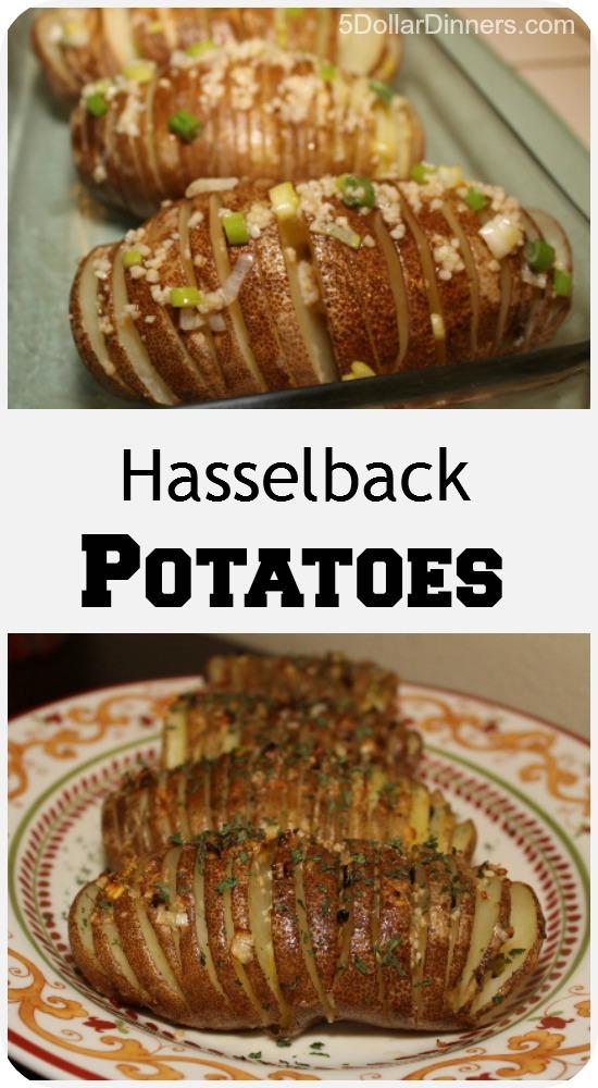 Fast and Easy Hasselback Potatoes | 5DollarDinners.com