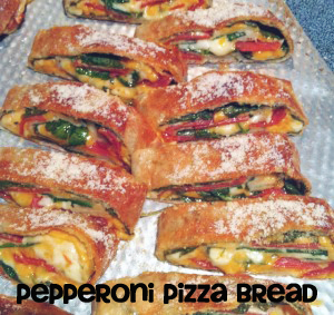 Pepperoni Pizza Bread Pepperoni Pizza Bread & Super Bowl Recipe Round Up