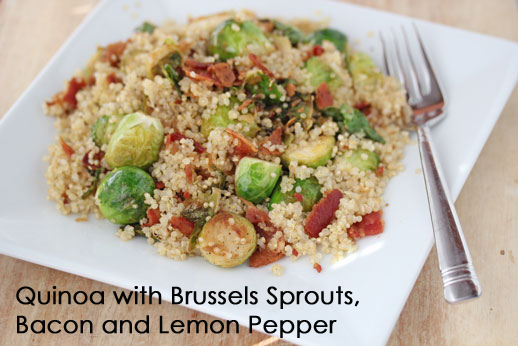 Quinoa Brussels Sprouts Quinoa with Pan Roasted Brussels Sprouts