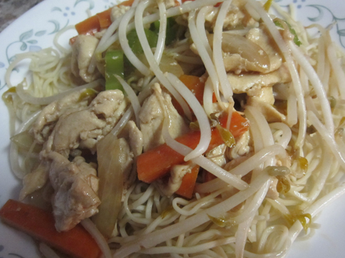 Homemade chicken chow mein note nutritional forumfinder Image collections