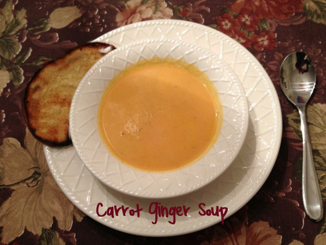 Carrot Ginger Soup Recipe Creamy Carrot Ginger Soup with Ginger Garlic Bread