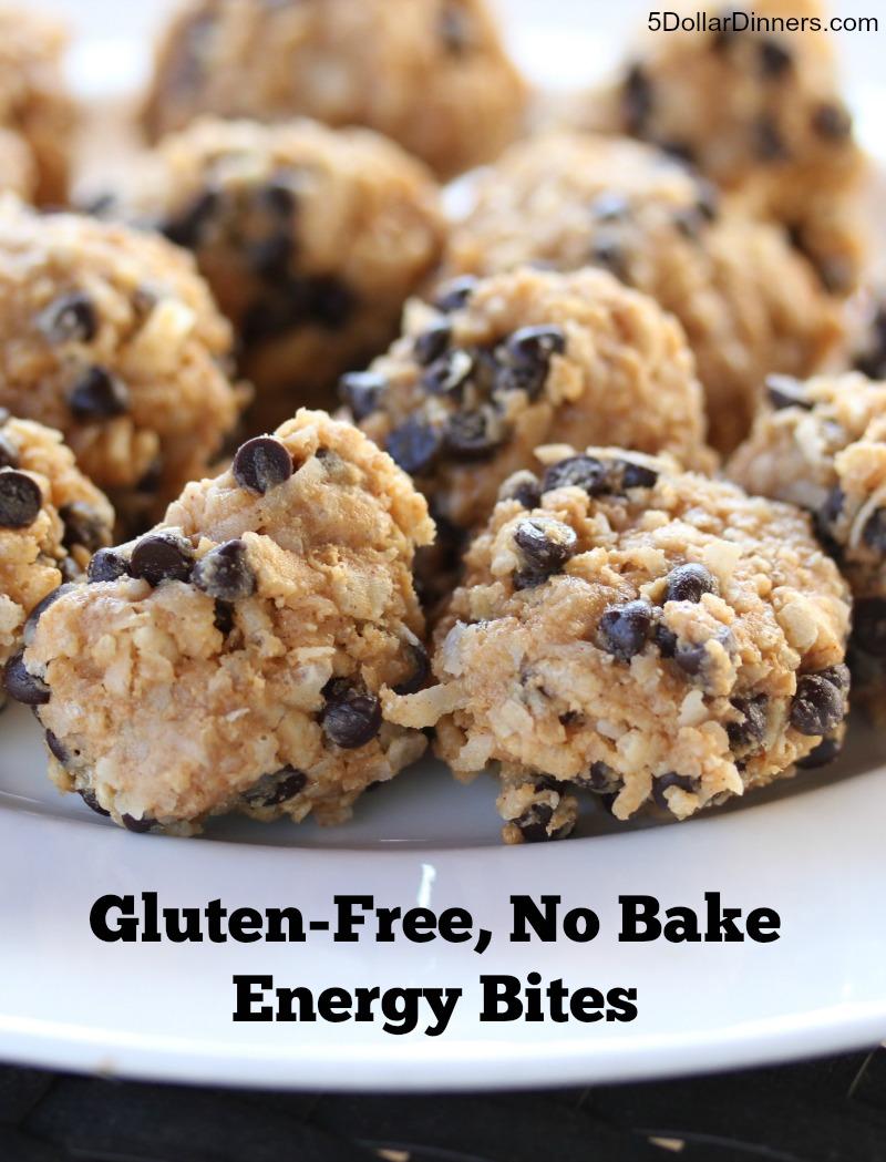 Gluten Free No Bake Energy Bites | 5DollarDinners.com