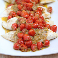 Tilapia-with-Tomatoes-Pesto