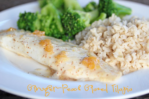Peach Ginger Glazed Tilapia