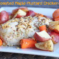 Roasted Maple Mustard Chicken