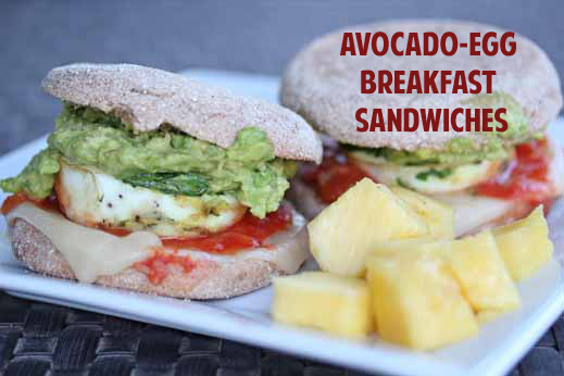Avocado Egg Breakfast Sandwich {How to Make Baked Eggs with Cilantro in Muffin Tin}