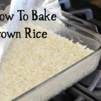 how to bake brown rice