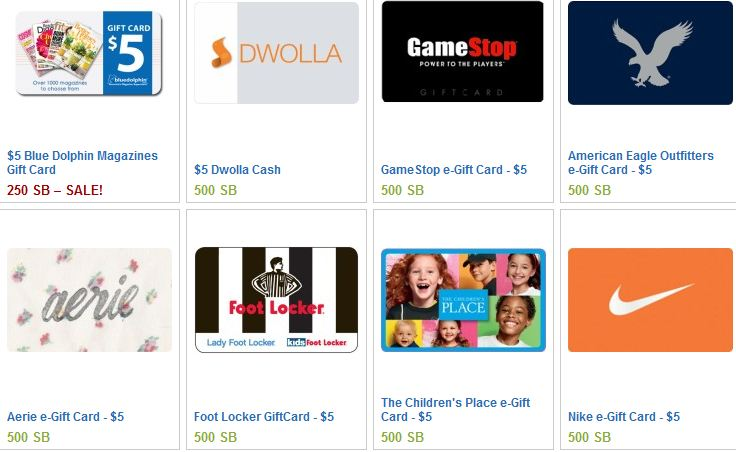 swagbucks news gift card offers