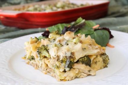 Chicken and Broccoli Alfredo Lasagna Recipe