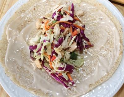 Create a Asian Chicken Salad Wrap