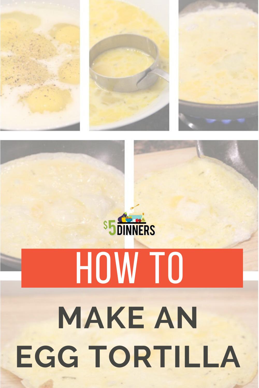 how to make an egg tortilla