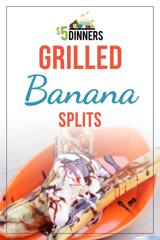 Fun summer dessert recipe - Grilled Banana Splits!