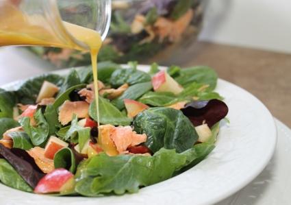 Honey Mustard Salmon Salad with Honey Mustard Dressing