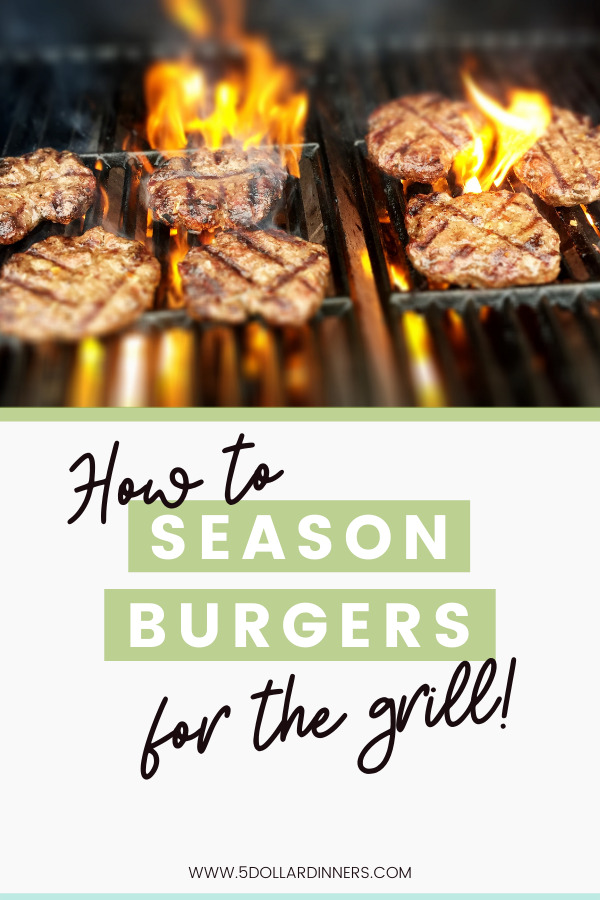 how to season burger patties for the grill